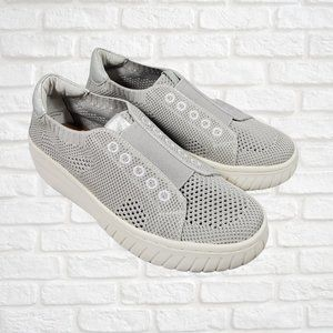 Sofft Size 6.5 Knit Gray Sneaker NEW